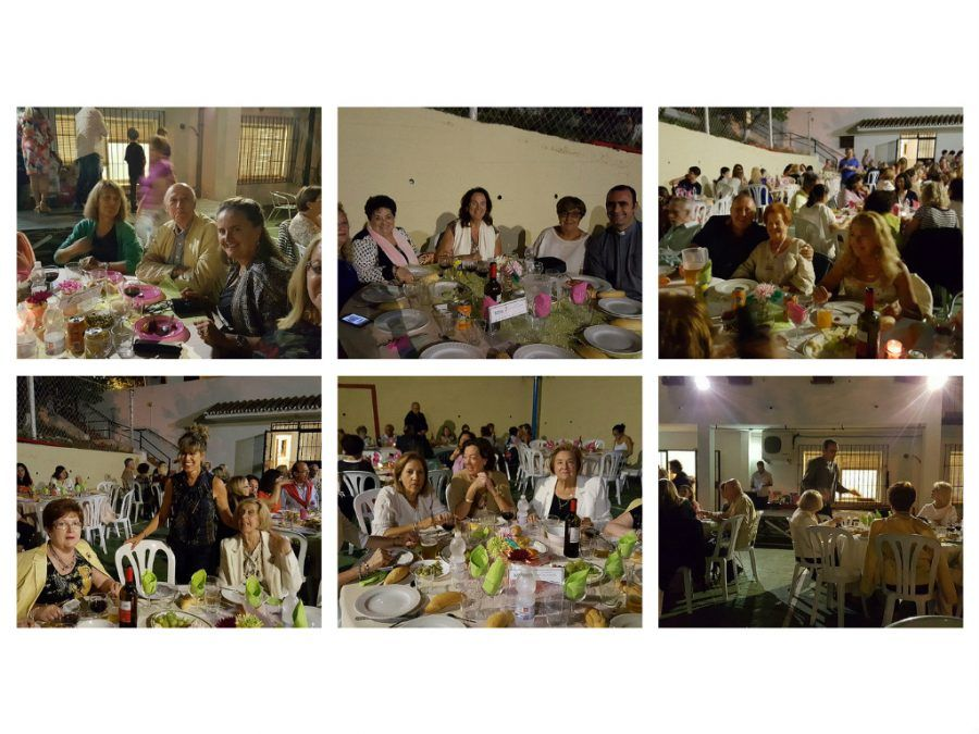 collage cena solidaria 8 10 16